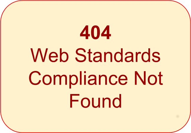 404 Library Catalogue Web Standards Compliance Not Found